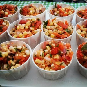 Recipe for a raw corn salad we make at that Farmers' Markets